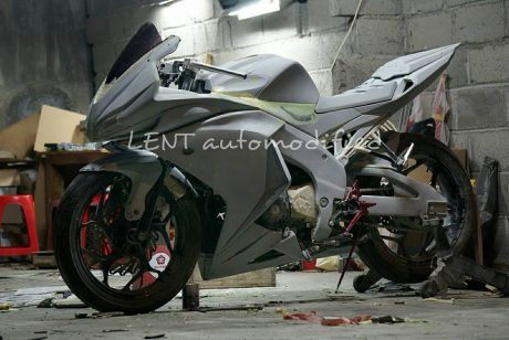 pengerjaan Modip CB150R jadi All New Honda CBR150R 2016