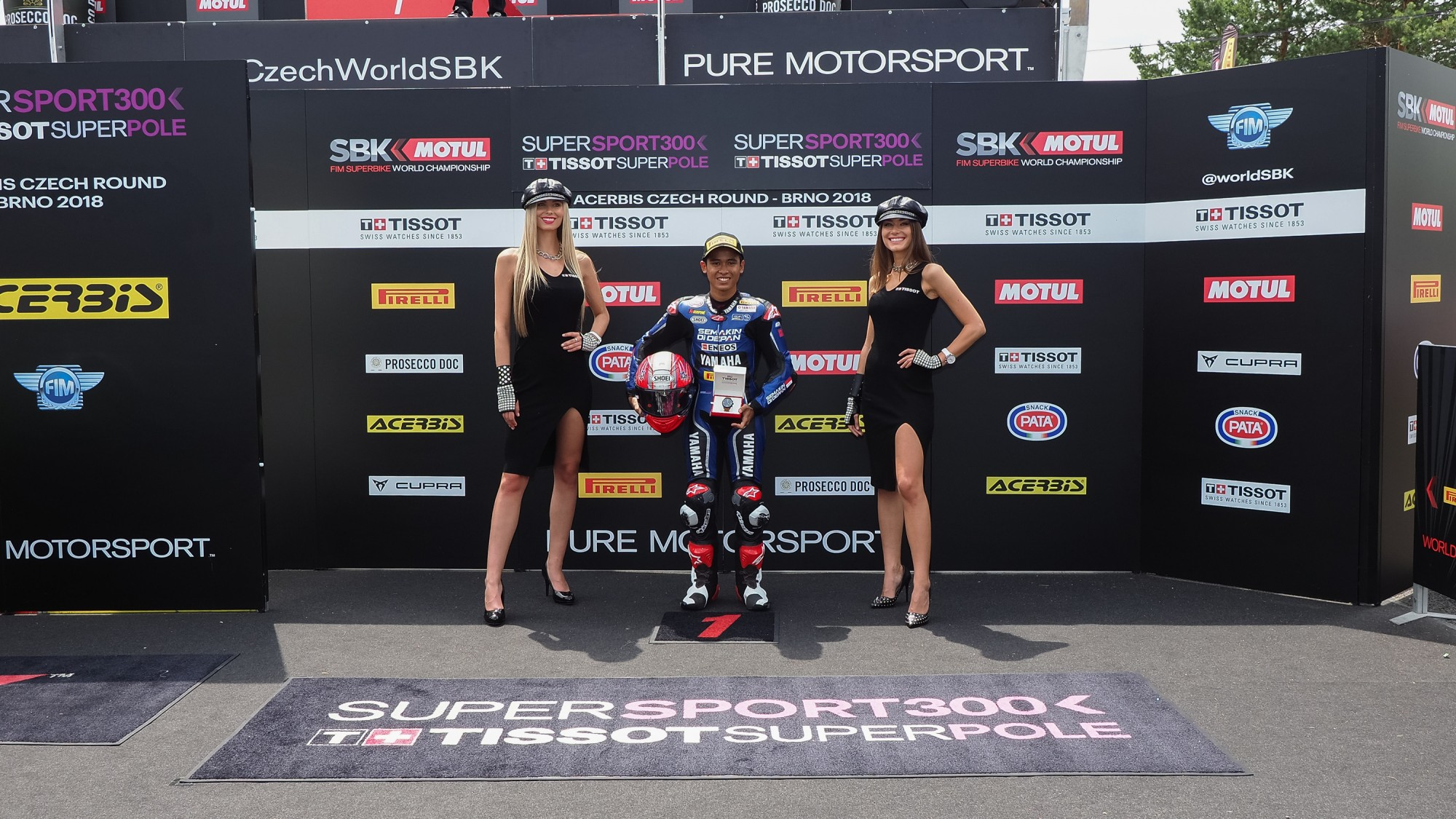 Galang Hendra Pole Position WSSP 300 Brno